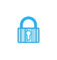 security barcode logo icon design vector image