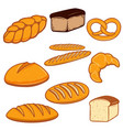 set of bread fresh bakery design vector image vector image