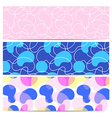 Set of three geometric abstract simple patterns vector image