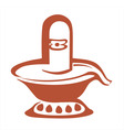 Shivling statue vector image