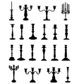 silhouettes of candlesticks vector image