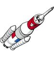 space rocket cartoon vector image vector image