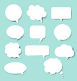speech bubble set blue background vector image