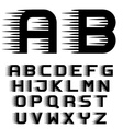 speed motion lines font alphabet letters
