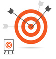 targets with arrows vector image vector image