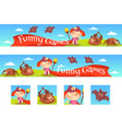 the game banner template vector image vector image