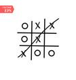 tic-tac-toe mini game stock vector image vector image