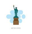 united states detailed silhouette vector image vector image