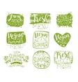 Vegan Menu Vintage Stamp Collection vector image vector image