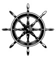 vintage monochrome ship wheel concept vector image