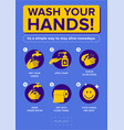 wash your hands infographic campaign prevention vector image