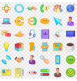 wifi icons set cartoon style vector image vector image
