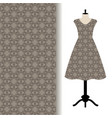 women dress fabric with grey pattern vector image vector image