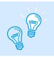 Lamp Bulb Idea Icon Simple Blue vector image
