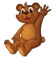 Animated bear vector image