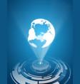 earth hologram background vector image