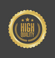 high quality gold sign round label vector image