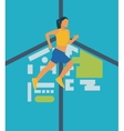 Running woman Healthy lifestyle and fitness vector image