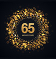 65 years anniversary isolated design vector image vector image