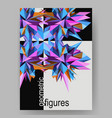 abstract geometric asymmetric poster design vector image