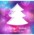 Abstract tree for Christmas greetings vector image vector image