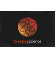 atom symbol atom logo design color atom science vector image vector image