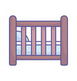 bashower wooden crib pillow icon vector image