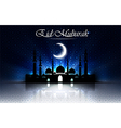 Beautiful religious eid background with mosque vector image