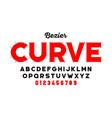 bezier curves style font design alphabet letters vector image vector image