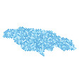 blue dotted jamaica map vector image vector image