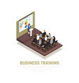business coaching isometric concept vector image vector image