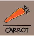 carrot hand-drawn style vector image vector image
