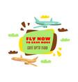 cheap flights flight concept vector image vector image