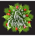 Christmas decoration on chalk board vector image vector image
