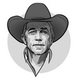 classic old western style cowboy with hat vector image vector image