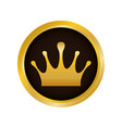 crown royalty symbol vector image vector image