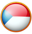 czech republic flag on round frame vector image vector image