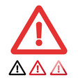 danger sign in flat design on white background vector image