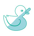 duck toy cartoon vector image vector image
