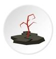 Earthquake icon flat style vector image vector image