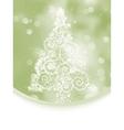 elegant christmas tree card vector image vector image