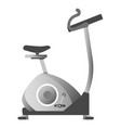 exercise bike in metallic color corpus isolated vector image vector image
