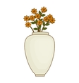 flower vase isolated icon vector image vector image