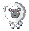 front of sheep icon cartoon style vector image