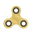 gold fidget spinner icon vector image