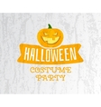 Happy Halloween costume party flyer template vector image