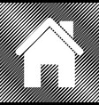home silhouette icon hole vector image