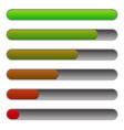 horizontal progress loading bars to progression vector image vector image