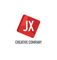 initial letter jx logo template design vector image vector image