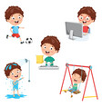 kids daily routine vector image vector image